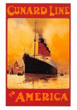 shp008005 - Cunard Line Ship Postcard Old Vintage Steamer Antique Post Card