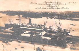 shp010051 - American Line Ship Postcard Old Vintage Antique Post Card