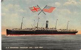 shp010053 - American Line Ship Postcard Old Vintage Antique Post Card