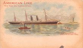 shp010059 - American Line Ship Postcard Old Vintage Antique Post Card