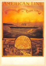 shp010071 - American Line Ship Postcard Old Vintage Antique Post Card