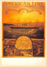 shp010073 - American Line Ship Postcard Old Vintage Antique Post Card
