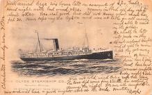shp010079 - Clyde Steamship Company Postcard Old Vintage Antique Post Card
