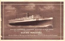 shp010093 - Clyde Steamship Company Postcard Old Vintage Antique Post Card