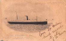 shp010097 - Clyde Steamship Company Postcard Old Vintage Antique Post Card