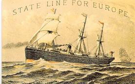 shp010113 - Sail Boat Postcard Old Vintage Antique Post Card