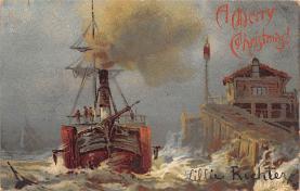 shp010129 - Sail Boat Postcard Old Vintage Antique Post Card