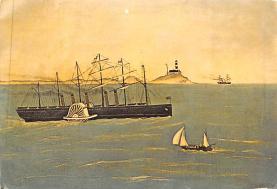 shp010145 - Sail Boat Postcard Old Vintage Antique Post Card