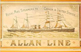 shp010157 - Allan Line Ship Postcard Old Vintage Antique Post Card