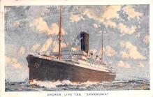 shp010167 - Anchor Line Ship Postcard Old Vintage Antique Post Card