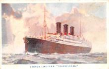 shp010171 - Anchor Line Ship Postcard Old Vintage Antique Post Card