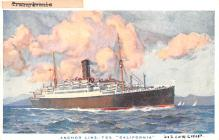 shp010181 - Anchor Line Ship Postcard Old Vintage Antique Post Card