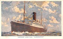 shp010185 - Anchor Line Ship Postcard Old Vintage Antique Post Card