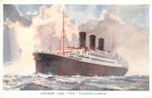 shp010199 - Anchor Line Ship Postcard Old Vintage Antique Post Card