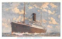 shp010207 - Anchor Line Ship Postcard Old Vintage Antique Post Card