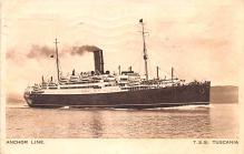 shp010211 - Anchor Line Ship Postcard Old Vintage Antique Post Card