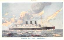 shp010213 - Anchor Line Ship Postcard Old Vintage Antique Post Card