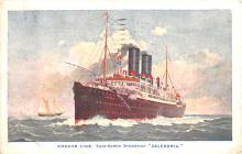 shp010219 - Anchor Line Ship Postcard Old Vintage Antique Post Card