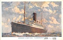 shp010225 - Anchor Line Ship Postcard Old Vintage Antique Post Card