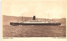 shp010239 - Anchor Line Ship Postcard Old Vintage Antique Post Card