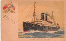 shp010243 - Anchor Line Ship Postcard Old Vintage Antique Post Card