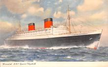 shp010397 - White Star Line Cunard Ship Post Card, Old Vintage Antique Postcard