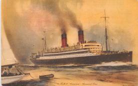 shp010401 - White Star Line Cunard Ship Post Card, Old Vintage Antique Postcard