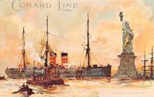 shp010403 - White Star Line Cunard Ship Post Card, Old Vintage Antique Postcard