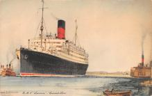 shp010409 - White Star Line Cunard Ship Post Card, Old Vintage Antique Postcard