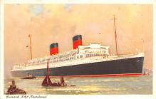 shp010413 - White Star Line Cunard Ship Post Card, Old Vintage Antique Postcard