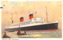 shp010417 - White Star Line Cunard Ship Post Card, Old Vintage Antique Postcard