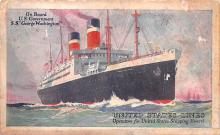 shp010421 - White Star Line Cunard Ship Post Card, Old Vintage Antique Postcard
