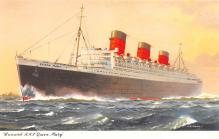 shp010425 - White Star Line Cunard Ship Post Card, Old Vintage Antique Postcard