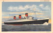 shp010427 - White Star Line Cunard Ship Post Card, Old Vintage Antique Postcard