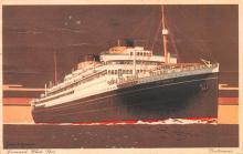 shp010429 - White Star Line Cunard Ship Post Card, Old Vintage Antique Postcard