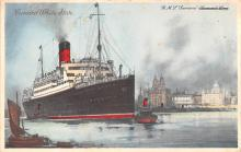 shp010431 - White Star Line Cunard Ship Post Card, Old Vintage Antique Postcard
