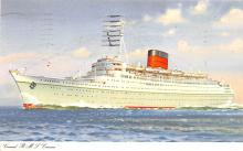 shp010441 - White Star Line Cunard Ship Post Card, Old Vintage Antique Postcard