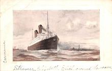 shp010465 - White Star Line Cunard Ship Post Card, Old Vintage Antique Postcard