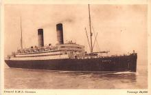 shp010471 - White Star Line Cunard Ship Post Card, Old Vintage Antique Postcard