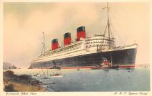shp010489 - White Star Line Cunard Ship Post Card, Old Vintage Antique Postcard