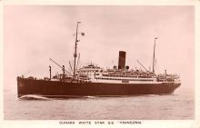 shp010495 - White Star Line Cunard Ship Post Card, Old Vintage Antique Postcard