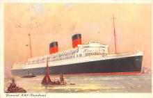 shp010505 - White Star Line Cunard Ship Post Card, Old Vintage Antique Postcard