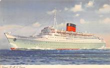 shp010507 - White Star Line Cunard Ship Post Card, Old Vintage Antique Postcard