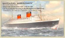 shp010525 - White Star Line Cunard Ship Post Card, Old Vintage Antique Postcard