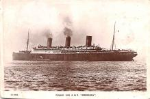 shp010537 - White Star Line Cunard Ship Post Card, Old Vintage Antique Postcard