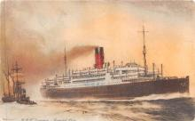 shp010539 - White Star Line Cunard Ship Post Card, Old Vintage Antique Postcard