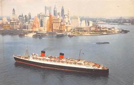 shp010541 - White Star Line Cunard Ship Post Card, Old Vintage Antique Postcard