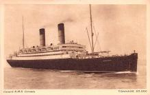shp010545 - White Star Line Cunard Ship Post Card, Old Vintage Antique Postcard