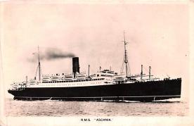 shp010549 - White Star Line Cunard Ship Post Card, Old Vintage Antique Postcard