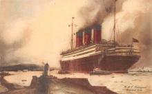 shp010563 - White Star Line Cunard Ship Post Card, Old Vintage Antique Postcard